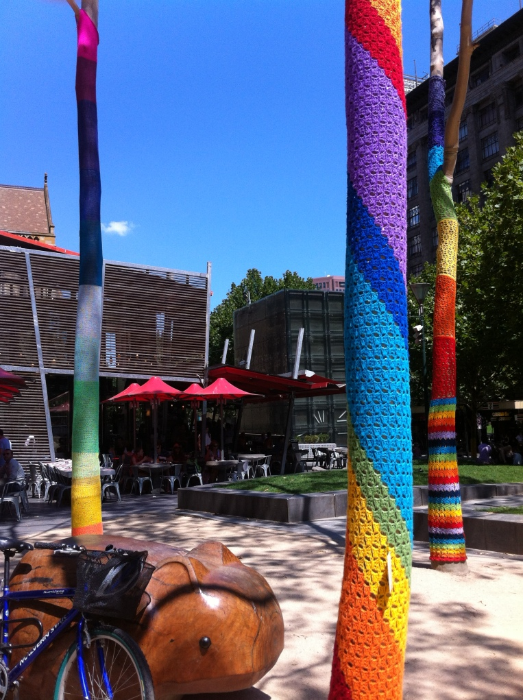 The Melbourne Local_Yarn bomb #3