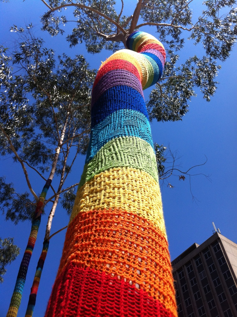 The Melbourne Local_Yarn bomb