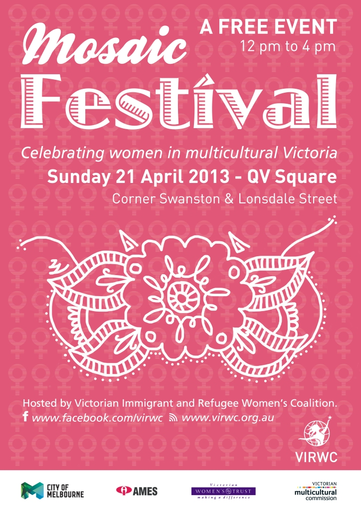 The Melbourne Local_Mosaic Festival poster