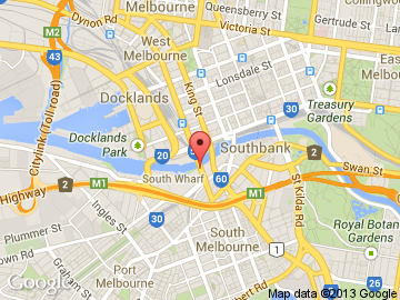 Melbourne Convention Centre map