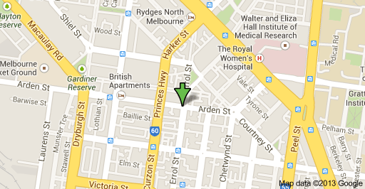 North Melbourne Town Hall map