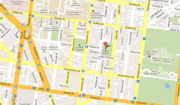 Italian Piazza Carlton map