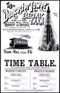 Old Melbourne tram poster