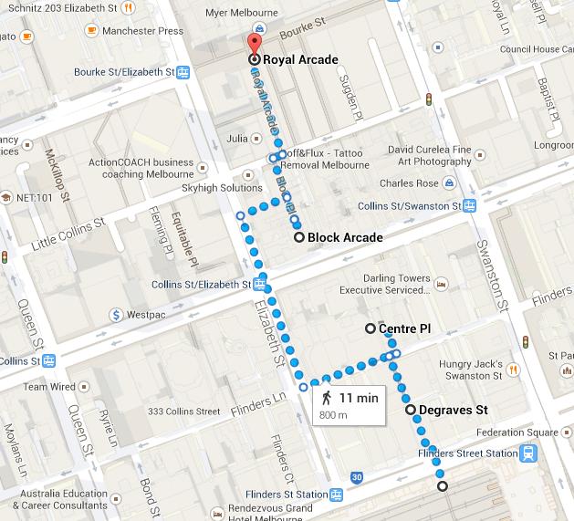 Laneway walking tour map_The Melbourne Local