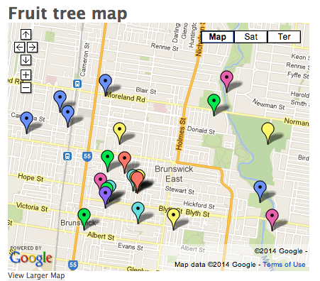 Feral Fruit Melbourne map