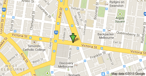 Queen Vic Market map