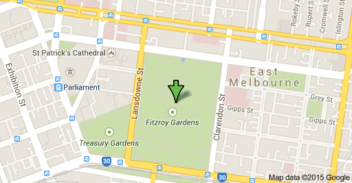 Fitzroy Gardens map